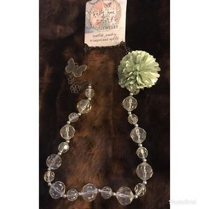 NEW KELLY RAE ROBERTS FLOWER&BUTTERFLY NECKLACE
